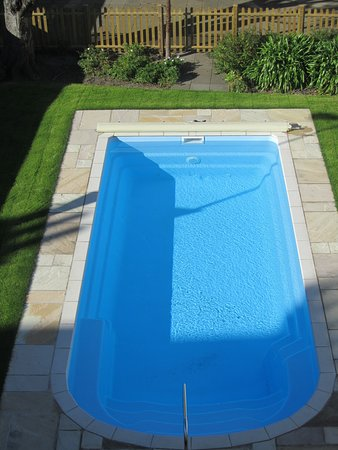 Some of the bedrooms have a view of our outdoor heated swimming pool.