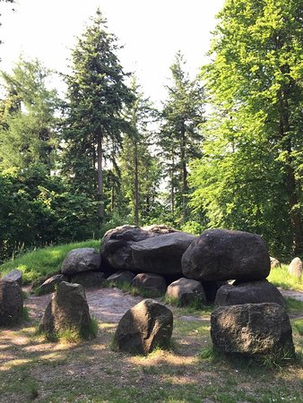 Hunebedden (dolmens) are mysteries structures, much like Stonehenge in England, dating from 3000 BC.
