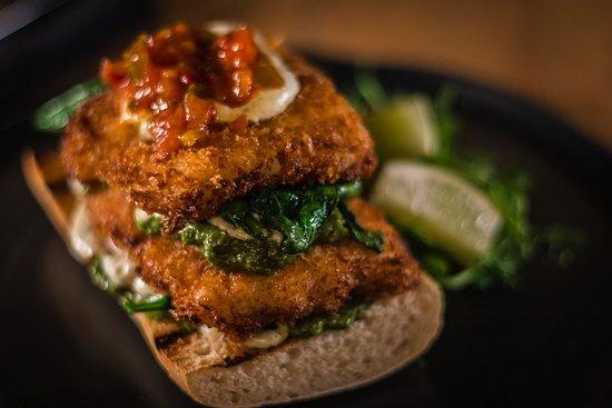 Cod & Wilted Spinach Open Sandwich Lunch Menu