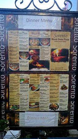 Sorento Restaurant: Menu