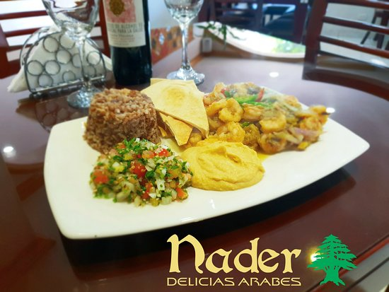 """Desde el mar a tu mesa #camaronesalbabaganoush #camaronesalbabaganush Ven y acompañanos, En Nader Delicias Árabes y danos el gusto de atenderte.  En NADER, estamos siempre para servirte. NADER DELICIAS ÁRABES.  """"La Autentica Cocina Libanesa""""  From the sea to your table #shrimpbabaganoush Come and join us, in Nader Arabian Delights and give us the pleasure of serving you.  At NADER, we are always there to serve you. NADER ARABIAN DELIGHTS """"The Authentic Lebanese Cuisine"""" — en Nader Delicias Árabe"""