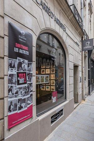 Extérieur galerie Carré d'Artistes Paris Saint Louis