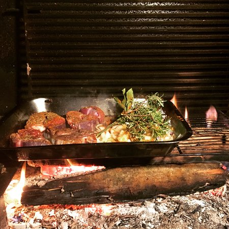 boeuf mijoté au feu de bois