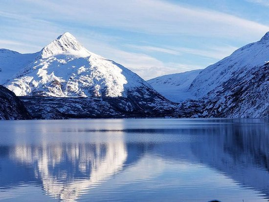 Portage Glacier: This is an early November view of Portage lake.