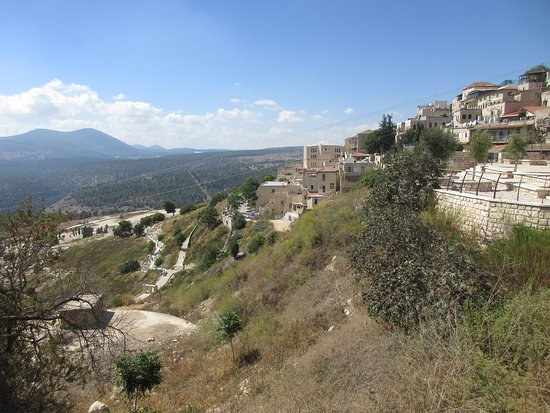 Distrito de Jerusalén, Israel: The hills of Judea rising sharply from the valley