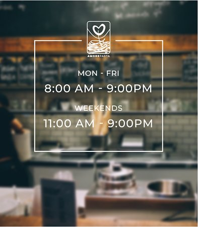 Our hours for our downtown location. Our breakfast hours are 8AM-11AM.