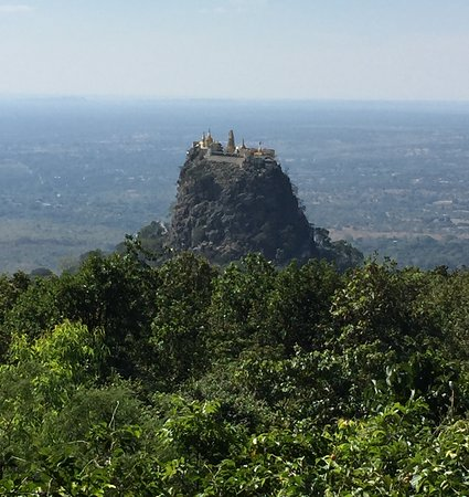 Mount Popa with monastery
