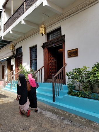 This is the entrance to the Zanzibar Palace Hotel.