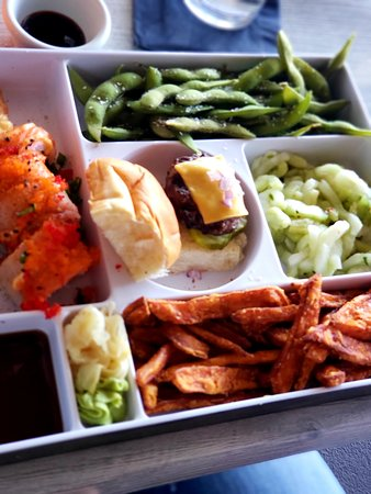 The Cowfish Sushi Burger Bar: Fusion Bento Box
