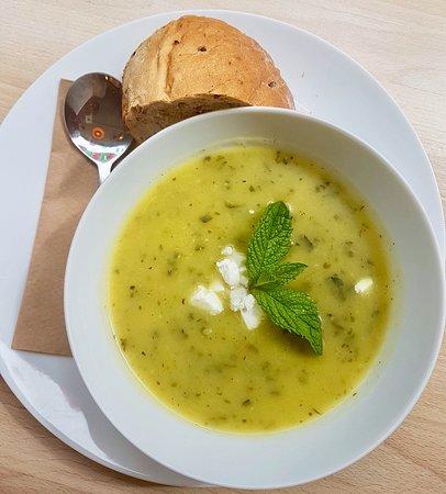 Courgette, Feata & Mint Soup