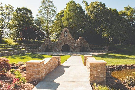 Perryville, MO: Grotto in dedication to the Blessed Mother.  Added new features in 2018.