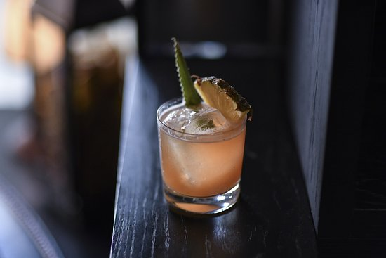 Jungle Bird, Chairman's Rum, Campari, lime and fresh pineapple juice.