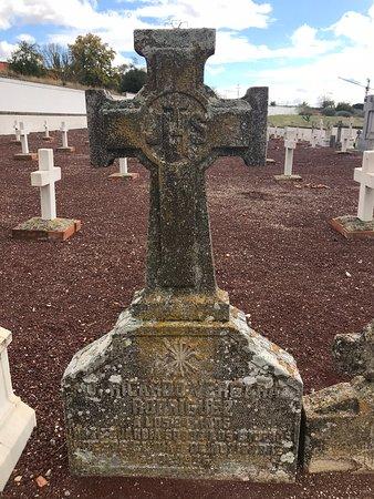 Paracuellos de Jarama, إسبانيا: Lápida de un falangista, asesinado a los 24 años de edad. 