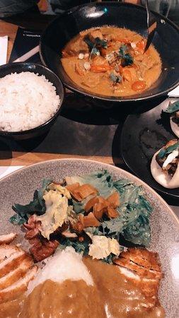 Chicken Katsu Curry and Yasai Samla Curry