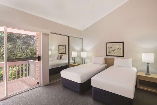 medina serviced apartments north ryde master bedroom twin