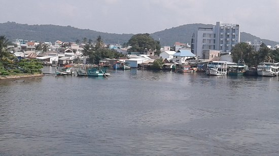 Dinh Cau Rock (Cua Temple): View of the Marina from Dinh Cau Temple