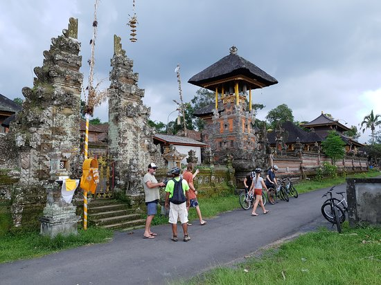 Quick stop at local village's temple