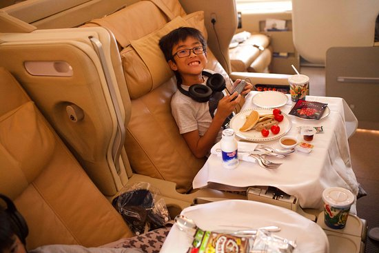 Singapore Airlines: The kids had everything they wanted!