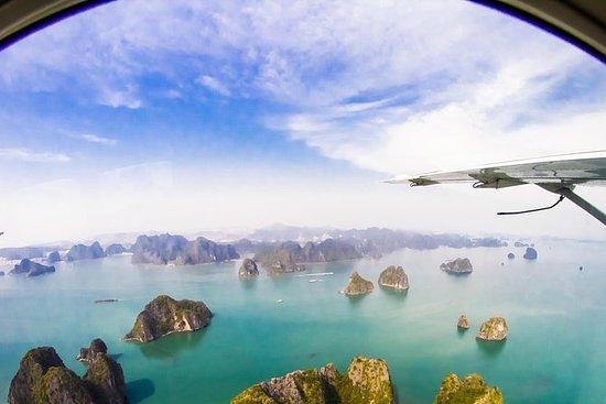 从河内乘坐2天的下龙湾水上飞机和Emeraude过夜游船