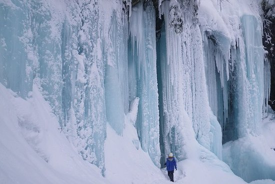 Frozen fall trekking