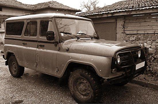 Tour of Sofia i russisk militær jeep