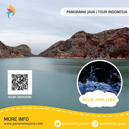 Banyuwangi, Indonésie : Ijen Crater is an acidic crater lake located at the top of Mount Ijen with a height of 2,443 meters above sea level with a lake depth of 200 meters and a crater area reaching 5,466 hectares. Ijen Crater Lake is known to be the largest acidic water lake in the world. Every morning around 2:00 to 4:00, around the crater can be found the phenomenon of blue fire, which is the uniqueness of this place, because this natural scenery only occurs in two places and one of them is in this Ijen crater.