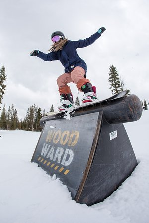 Private park at Woodward Tahoe weekend camp. April 2018.