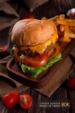 The cheese burger is always a crowd pleaser