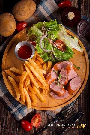 Grilled German Sausages