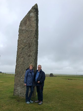 David Drever takes some great pictures of you along the way - This is one of the standing stones of Stenness.