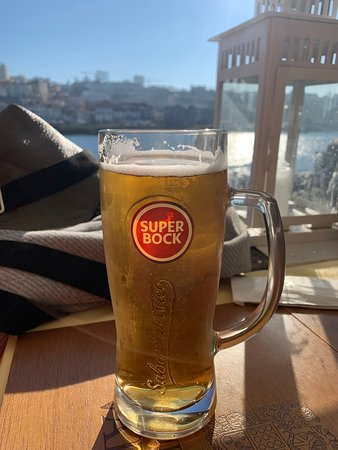 Super Bock and river view