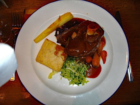 Twyford, UK: the delicious lamb shank with dauphinoise potato cake - almost too much for one person!