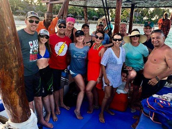 Uroa Blue Adventure: our group - so many friends made