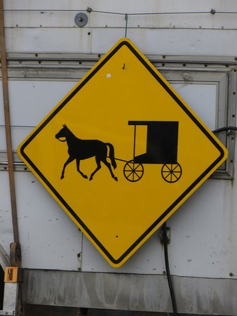Lancaster County, PA: Amish Crossing Sign.  Photo by Frederick Meekins