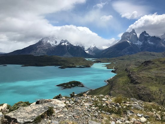 Torres del Paine National Park, Chile: View from the top of Mirador Condor Trail - Extremely Windy