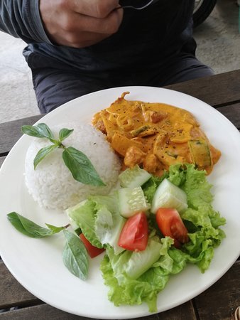 Chicken curry - good but not spicy/hot enough