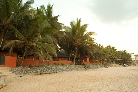 Beach front with vollexball net