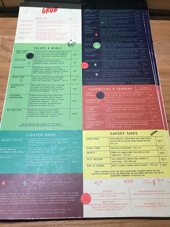 Grub Burger Bar: Menu