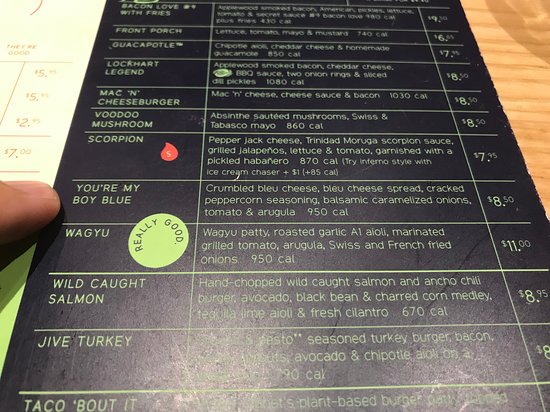 Burger options and pricing