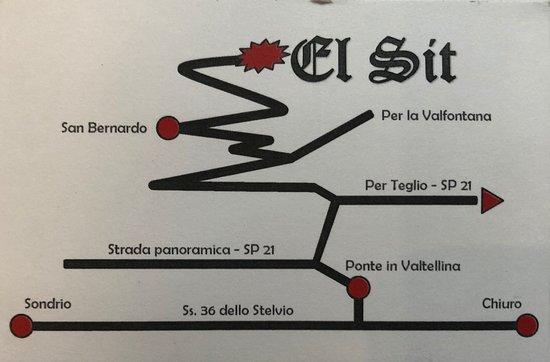 Ponte in Valtellina, Italie : Agriturismo El Sit