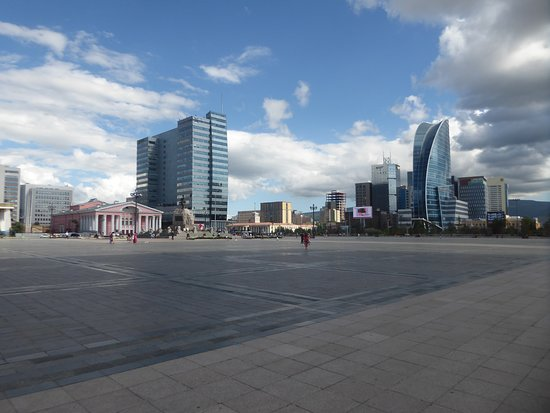 Genghis Khan Square: Central Tower and Blue Sky Tower