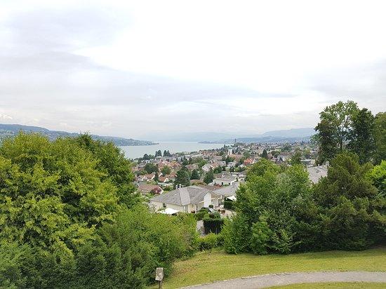 Rüschlikon, Suíça: vistas desde el mirador del zurichsee