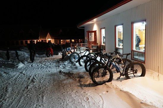 Saint-Mathieu-du-Parc, Canada: Sorties hivernales à la frontale.