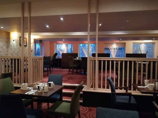 Handforth, UK: Outdoor drinks and food area and dining area