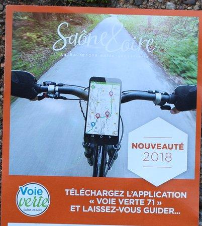 Télécharger l'application voie verte Saône et Loire