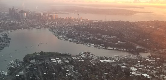 Historic Flight Foundation: Downtown Seattle from the DC-3 Flight.   The flight cost $230 and not always available.   Not inexpensive but I thought it was very much worth it.