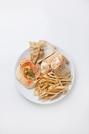 Platter with Chicken Shawarma and Fries