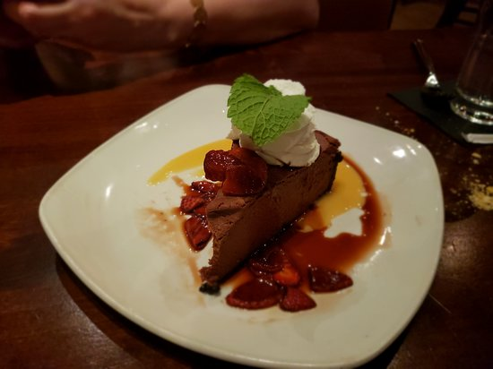 Moorestown, NJ: Chocolate cheesecake was well done, especially when paired with the strawberries