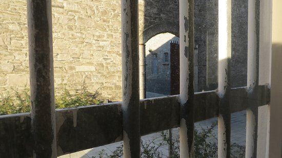 View of execution yard had by condemned prisoners at Kilmainham Jail.