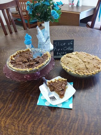 Edwardsburg, MI: Slice of pie and a cup of coffee $4.00 for our dine in patrons.